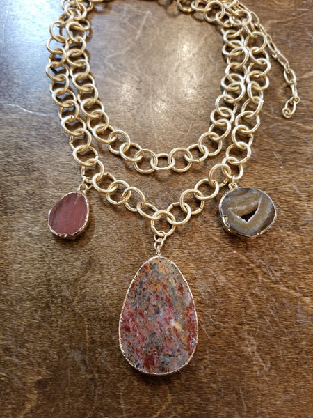 GC chunky stone necklaces 404114