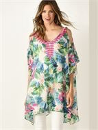 Charlie Paige tropical print cover up