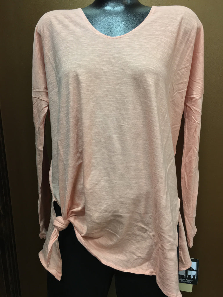RD Style Salmon Color Long Sleeve Top - Chelsea Street Boutique