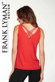frank lyman red tank top 176330