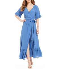 Lucy Love Enchanted wrap dress in blue