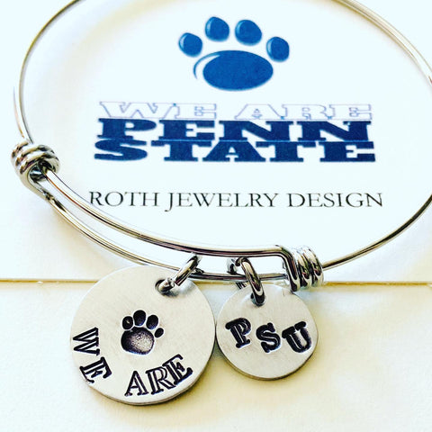 Penn State University PSU Nittany Lions College Football PSU Mantra Bangle Bracelet