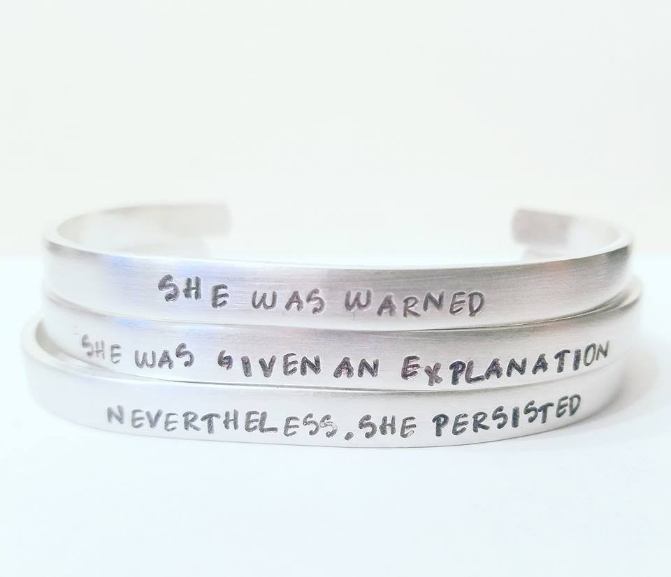 Nevertheless, She Persisted Mantra Band Bracelet