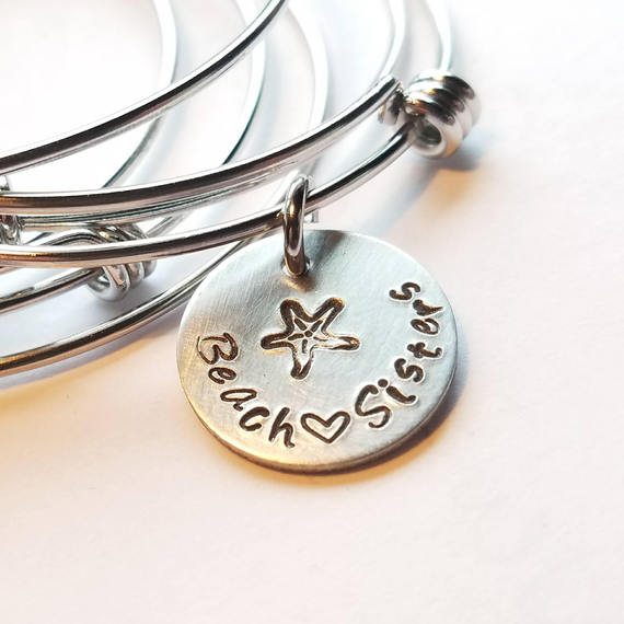 Beach Sisters Starfish Bangle Bracelet
