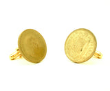 1966 Spanish Coin Cufflinks Mens Gold Tone Cufflink set made from Vintage 1 Peseta Coins from The Kingdom of Spain