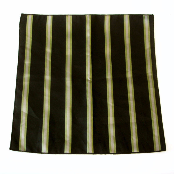 1960s Mens Vintage Striped Pocket Square