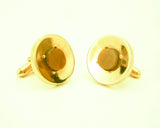 1960s SWANK Tiger Eye Cufflinks Mens Vintage Gold Tone Cufflink Set with Tiger's eye gemstones by SWANK