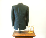 1950s Blue Sharkskin 3 Button Mens Vintage MOD Sport Coat by Anderson's - Size 40