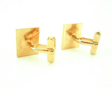 1940s Swank Cufflinks Mens Vintage Art Deco Gold Tone Cufflinks by SWANK