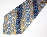 1970s Wide Disco Era Tie Men's Vintage Polyester Necktie with Woven Abstract Designs by Bond's Fifth Avenue