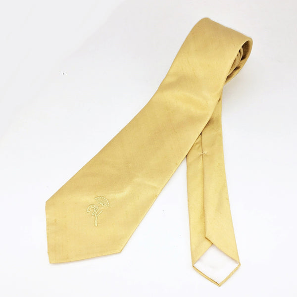 1970s COUNTESS MARA Tie Men's Vintage Wide Yellow Necktie by Countess Mara New York