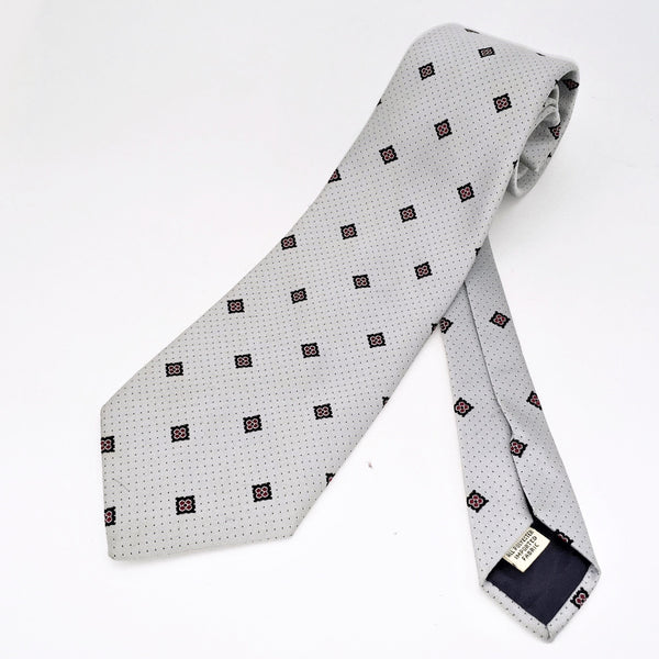 1970s Silver Gray Tie Wide Disco Era Men's Vintage 100% Polyester Imported Fabric Necktie by Walton Clothes