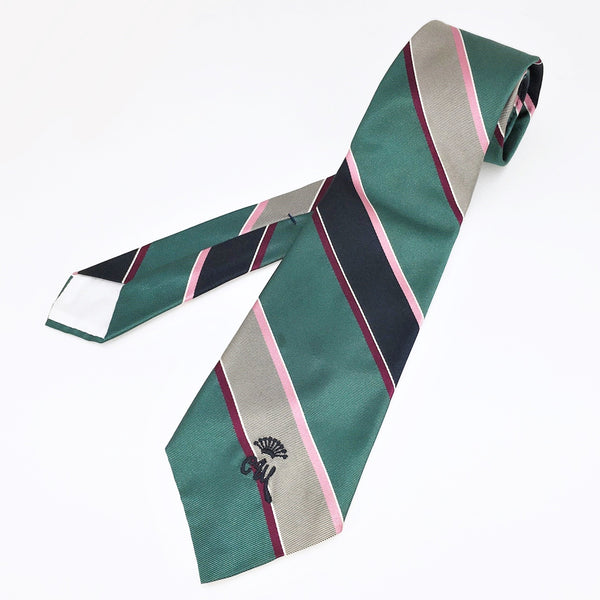 1970s COUNTESS MARA Tie Men's Vintage Disco Era 70s Teal Striped Necktie by Countess Mara, New York