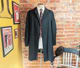 1970s Vintage Men's Overcoat Black All Weather Coat by BEST with removeable Winter Pile Lining - Size 50 (XL)