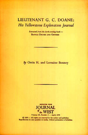 Lieutenant G.C. Doane: His Yellowstone Exploration Journal (signed)