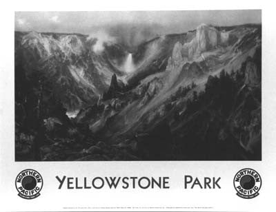 Yellowstone National Park: Thomas Moran Print