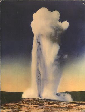 Old Faithful Giant Postcard