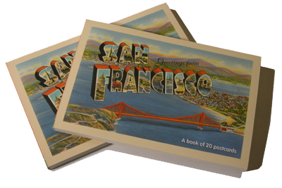 GREETINGS FROM SAN FRANCISCO - A POSTCARD BOOK