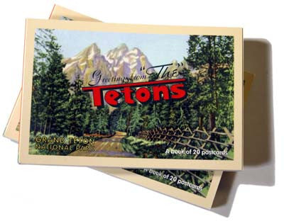 GREETINGS FROM GRAND TETON - A POSTCARD BOOK