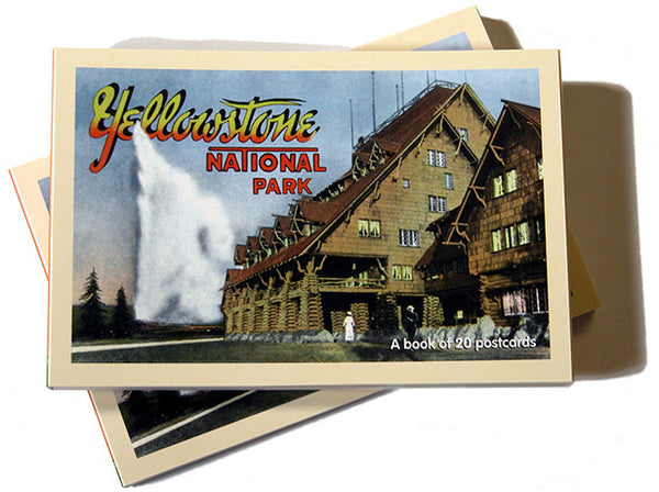 GREETINGS FROM YELLOWSTONE - A POSTCARD BOOK