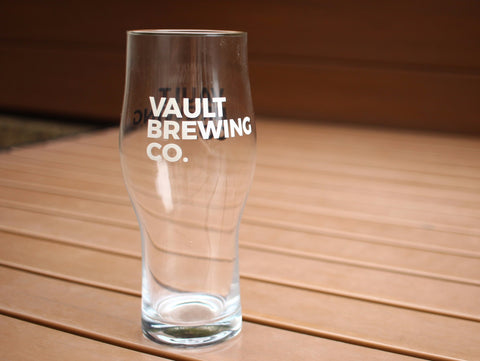 Black & White Vault Brewing Co. 16 oz. Glass