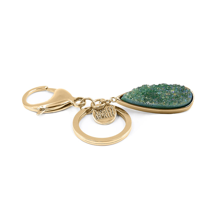Accessory Collection - Jade Quartz Drop Keychain