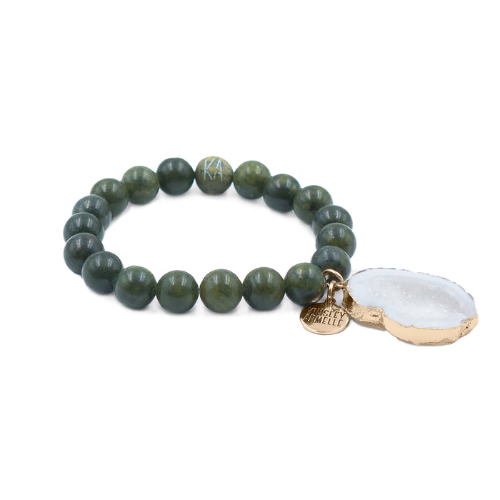 Agate Collection - Moss Bracelet 10mm