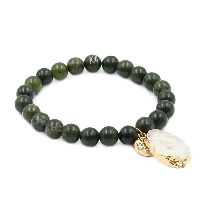 Agate Collection - Moss Bracelet 8mm
