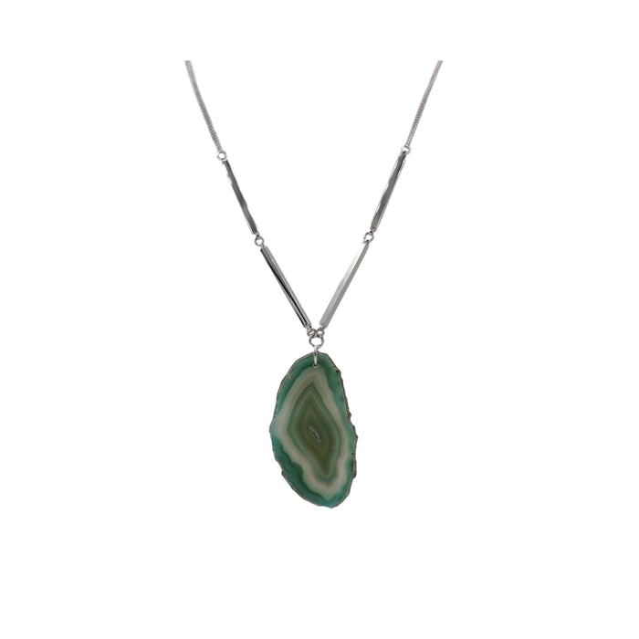 Agate Collection - Silver Jade Necklace - Kinsley Armelle