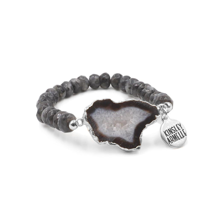 Agate Collection - Silver Smoky Bracelet