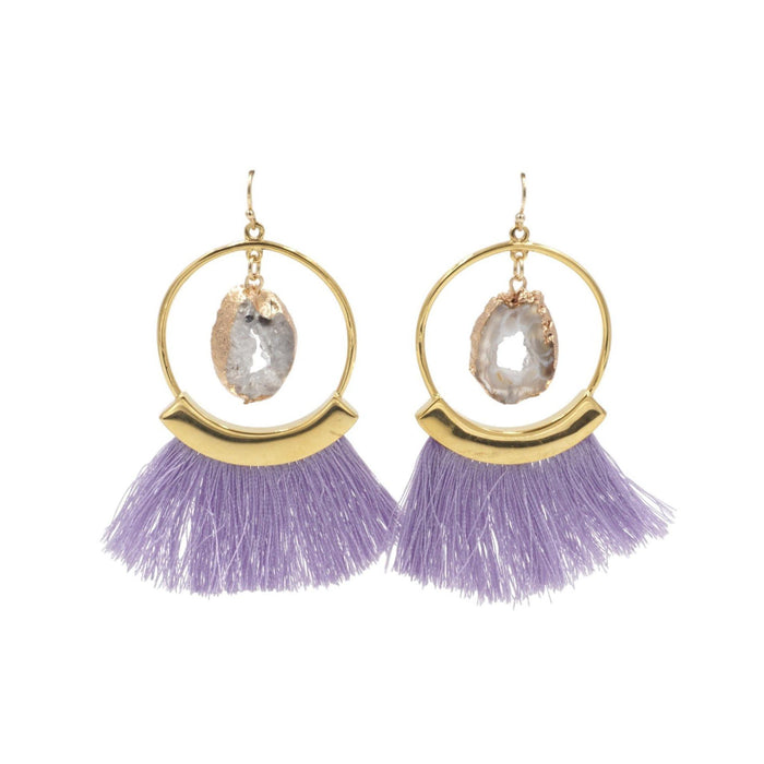 Agate Collection - Royal Fringe Earrings - Kinsley Armelle