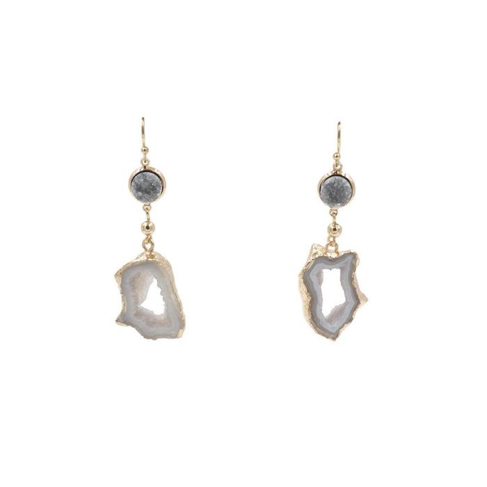 Agate Collection - Stormy Drop Earrings - Kinsley Armelle