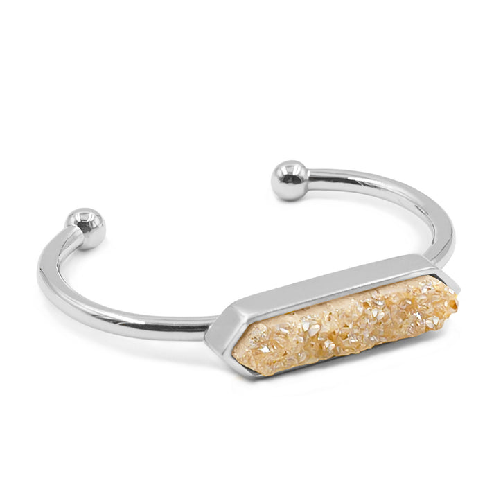 Bangle Collection - Silver Amber Quartz Bracelet