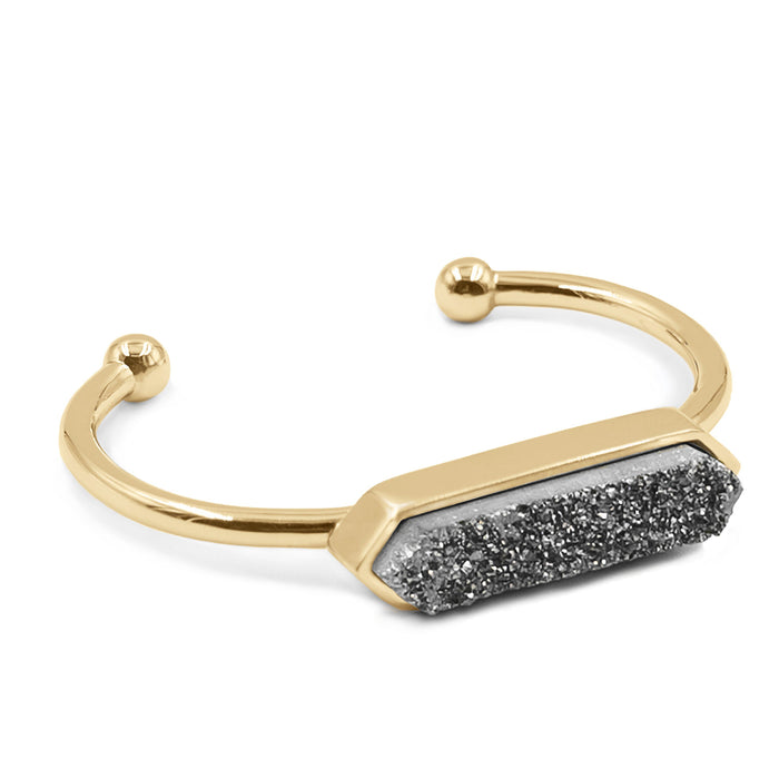 Bangle Collection - Stormy Quartz Bracelet