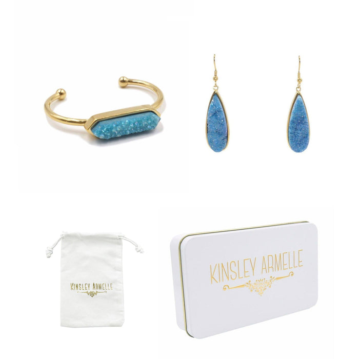 Gold Azure Quartz Gift Set