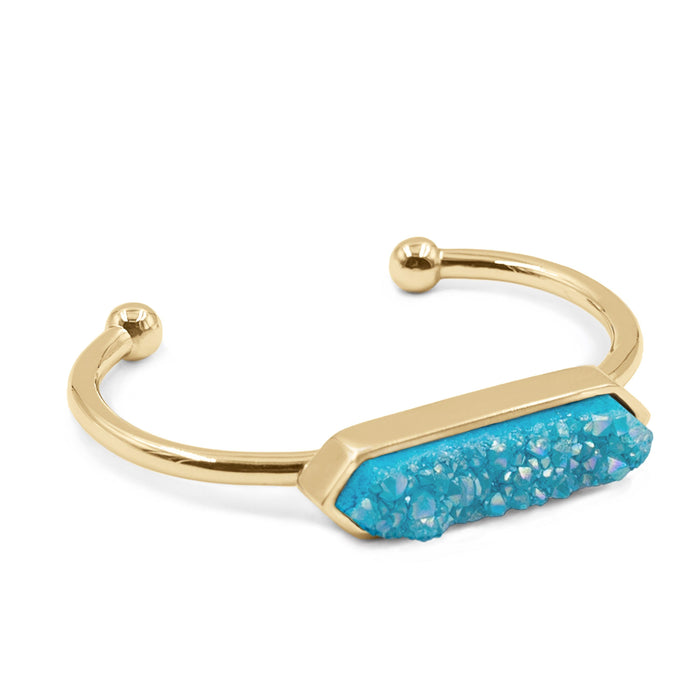 Bangle Collection - Azure Quartz Bracelet