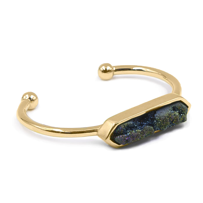 Bangle Collection - Cosmic Quartz Bracelet (Unique)