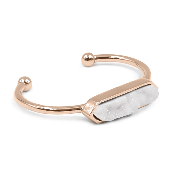 Bangle Collection - Rose Gold Quartz Bracelet (Unique)