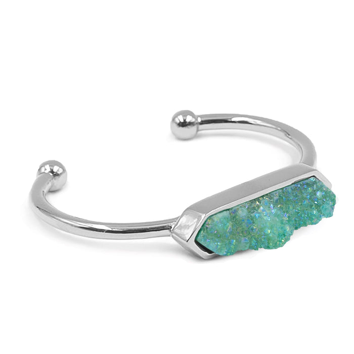 Bangle Collection - Silver Jade Quartz Bracelet (Unique)