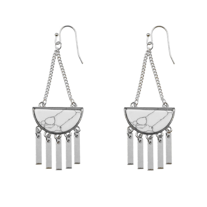 Bianca Collection - Silver Pepper Earrings