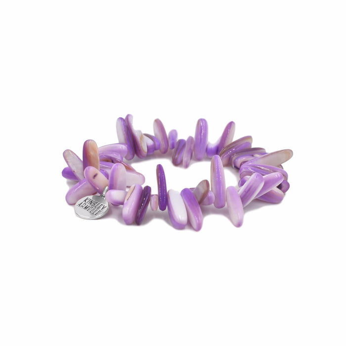 Chip Collection - Silver Wild Orchid Bracelet - Kinsley Armelle