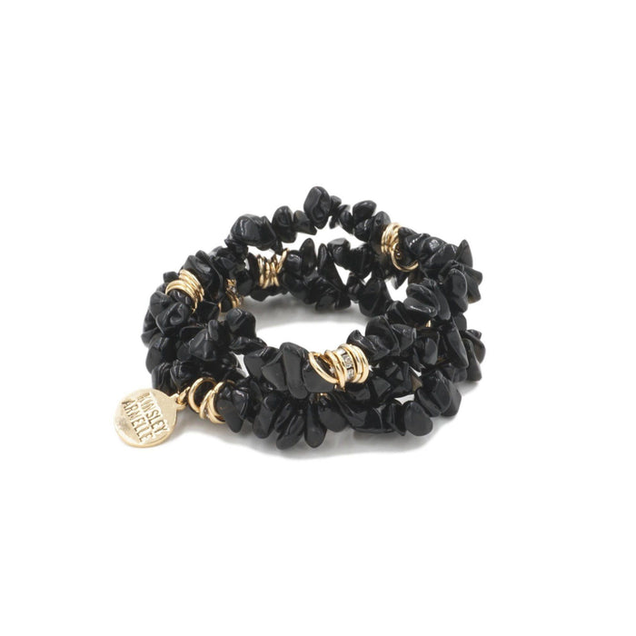 Cluster Collection - Coal Bracelet