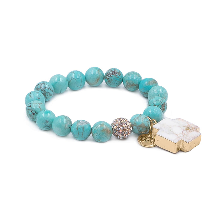 Cross Collection - Aqua Marine Bracelet