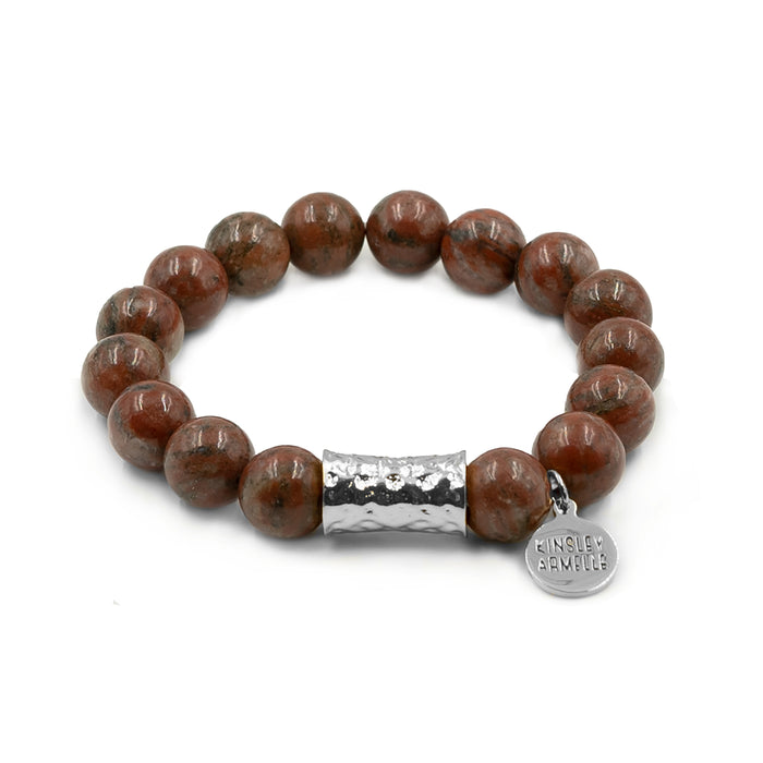Cyprus Collection - Silver Jasper Bracelet
