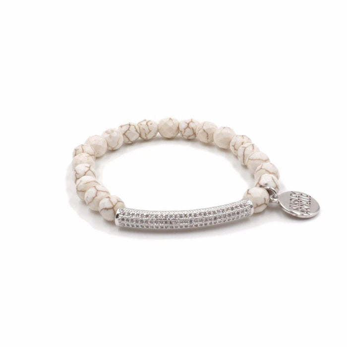 Glitz Collection - Silver Khaki Bracelet - Kinsley Armelle