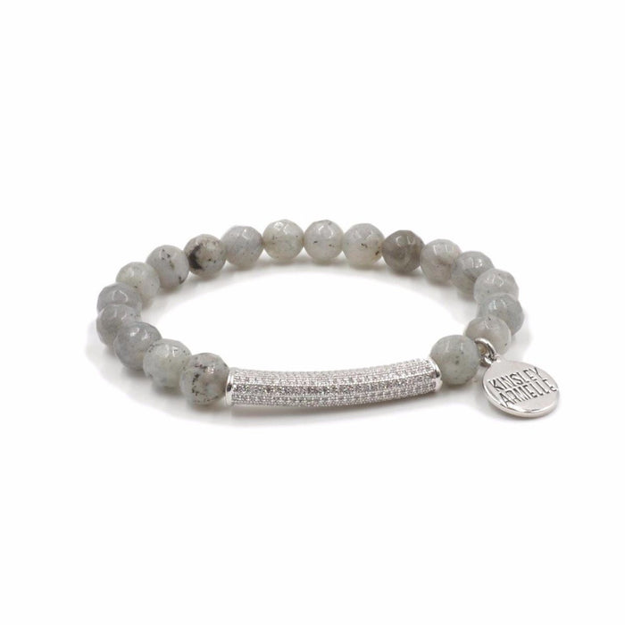 Glitz Collection - Silver Haze Bracelet - Kinsley Armelle