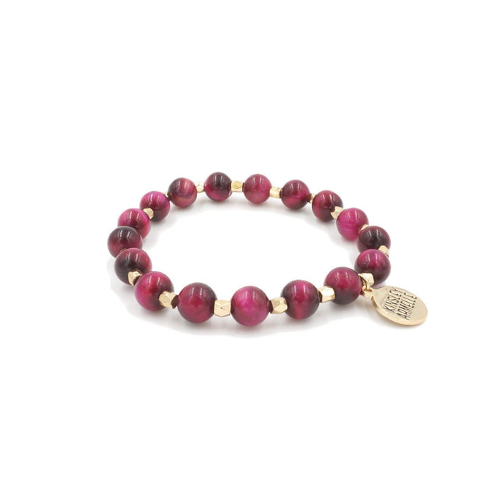 Farrah Collection - Raspberry Wine Bracelet - Kinsley Armelle