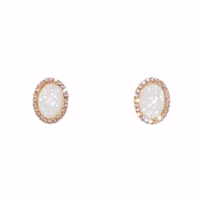Essence Collection - Cloud White Stud Earrings - Kinsley Armelle