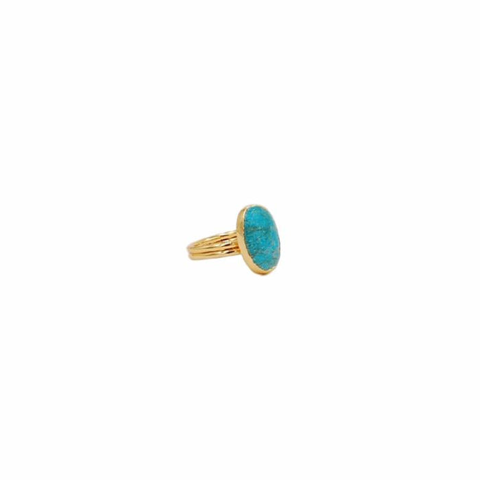 Turquoise Collection - Oval Ring - Kinsley Armelle