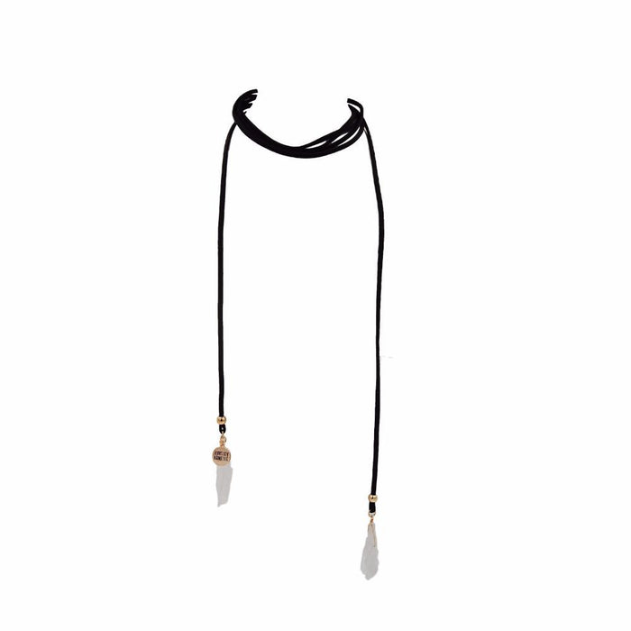 Wrap Collection - Raven Quartz Necklace - Kinsley Armelle